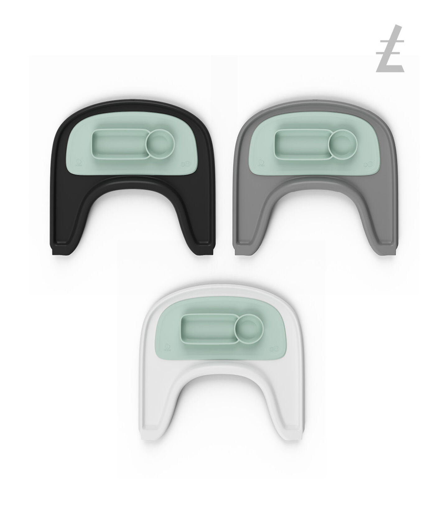 ezpz™ by Stokke™ placemat for Stokke® Tray Soft Mint, Soft Mint, mainview view 4