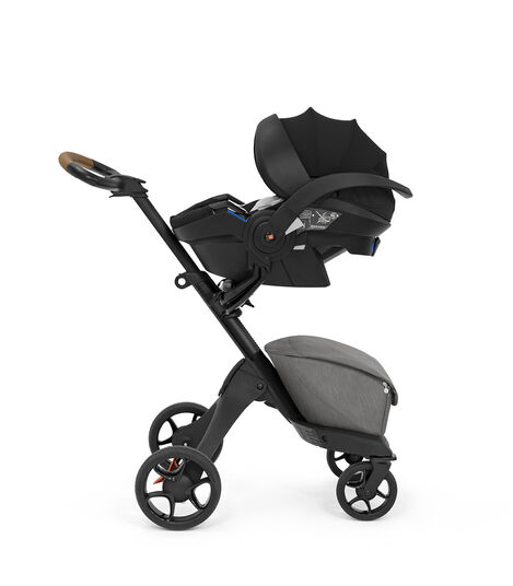 Stokke® Xplory® X Modern Grey Car Seat Stokke® iZi Go Modular™ X1 by BeSafe®. view 4
