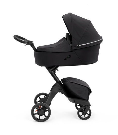 Stokke® Xplory® X Rich Black Stroller with Carry Cot. view 3