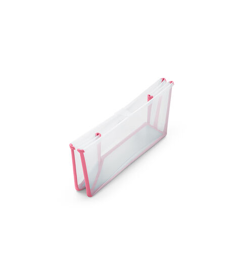 Stokke® Flexi Bath® bath tub, Transparent Pink. Folded. view 5