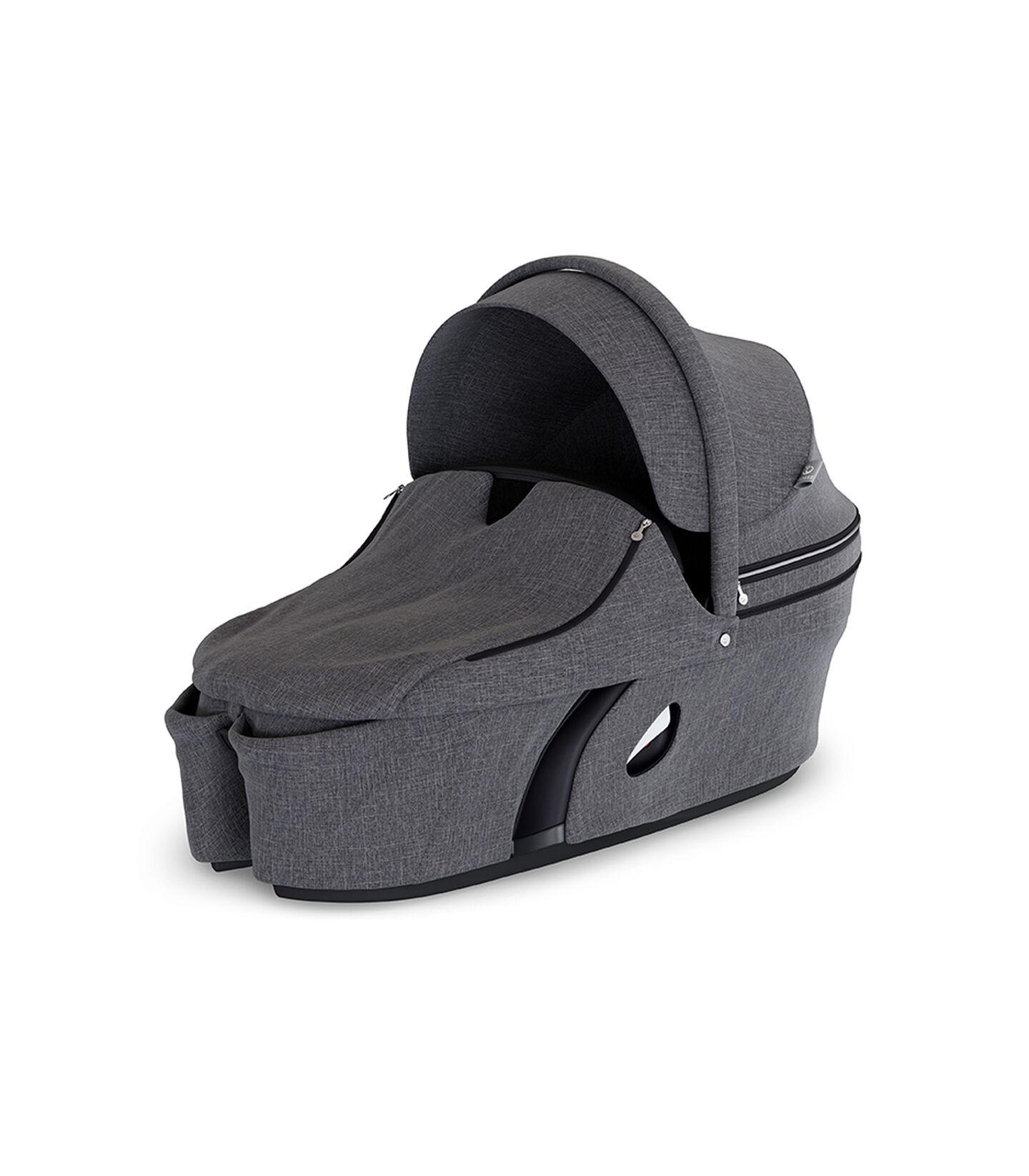 Stokke® Xplory® Carry Cot Complete Black Melange, Noir mélange, mainview view 2