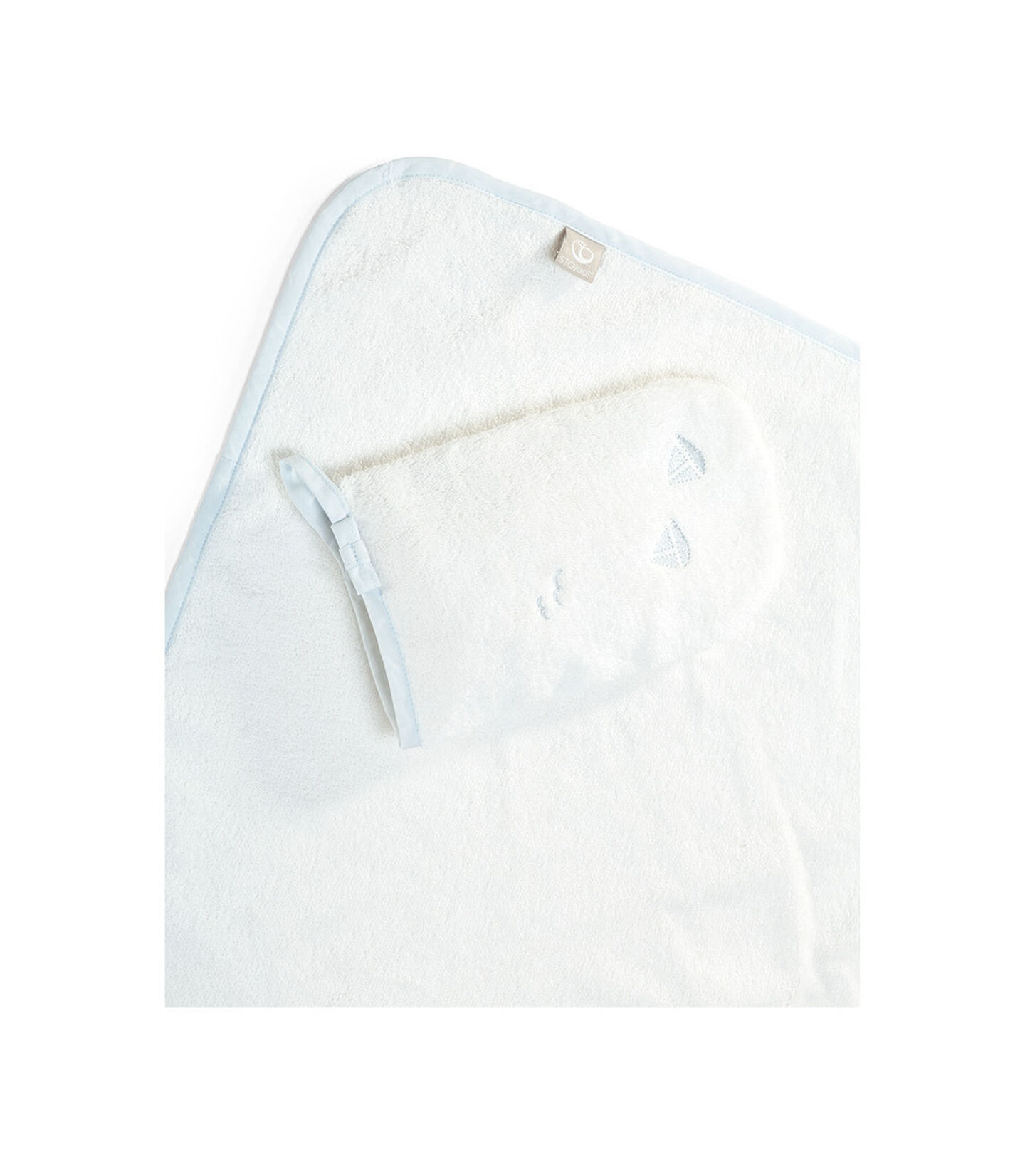 Stokke® Hooded Towel Blue Sea.
