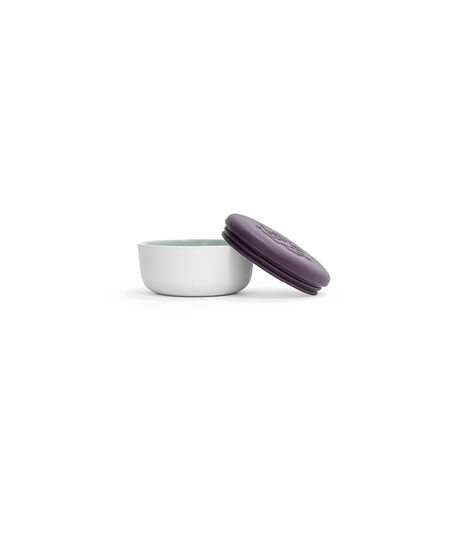 Stokke™ Munch Bowl with lid, open. Tableware.