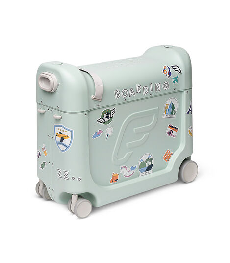 JetKids™ by Stokke® BedBox V3 in Green Aurora Decorated with Stickers. view 9