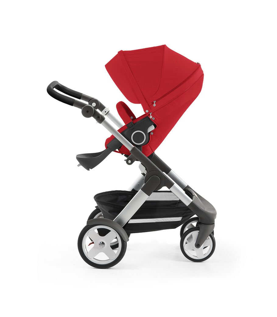 Stokke® Trailz™ with Stokke® Stroller Seat, Red. Classic Wheels. view 60