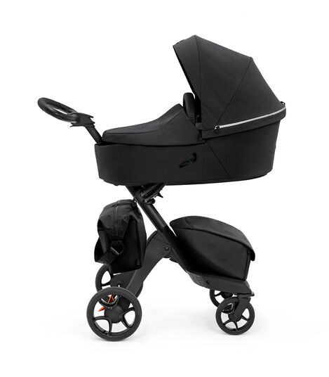 Stokke® Xplory® X Changing Bag Rich Black on Stroller. Accessories. view 5