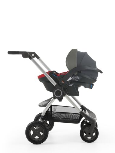 Stokke® iZi Go™ X1, Red and Stokke® Scoot™ chassis.