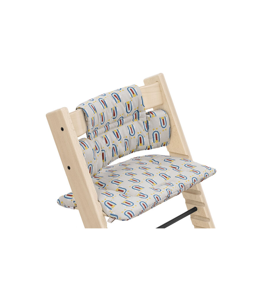 Tripp Trapp® Chair Natural with Classic Cushion Robot Grey. Detail. view 12