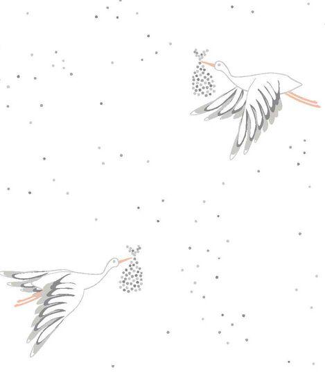 Stokke® Sleepi™ Mini Fitted Sheet Pehr Stork, Stork, mainview view 3