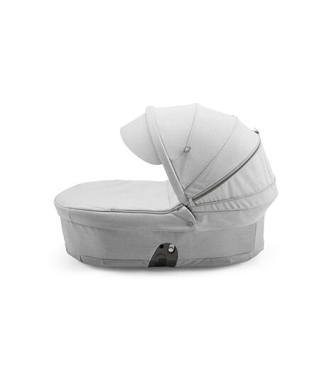 Stokke® Scoot™ Carry Cot, Grey Melange, with Grey Melange Canopy.