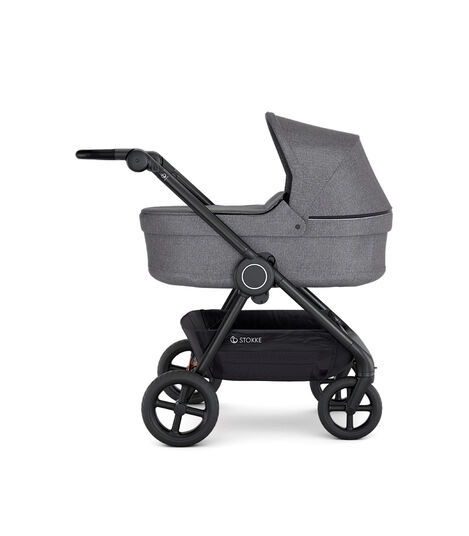 Stokke® Beat™ with Carry Cot, Black Melange.