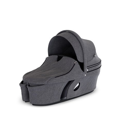 Stokke® Xplory® Carry Cot Black Melange. With Storm Cover.