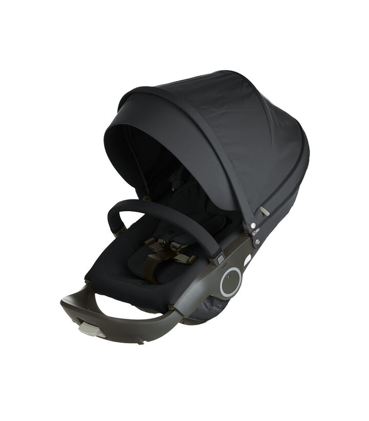 Stokke® Xplory® & Crusi™ Seat Complete Black, Black, mainview view 1