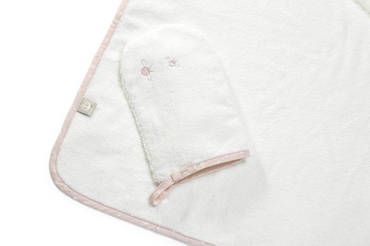 Stokke® Hooded Towel Pink Bee.