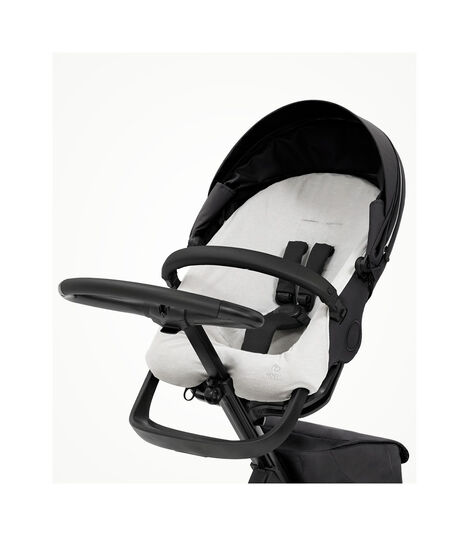 Stokke® Xplory® X Summer Cover Light Grey, Light Grey, mainview view 2