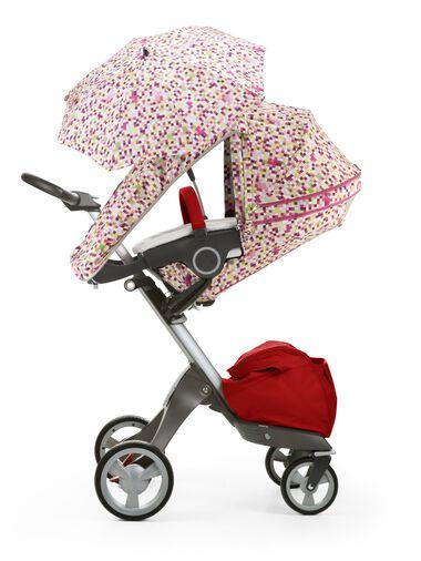 Stokke® Xplory® with Stokke® Stroller Summer Kit Pink Pixel.