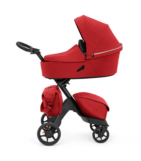 Stokke® Xplory® X Changing Bag Ruby Red on Stroller, Accessories.  view 4