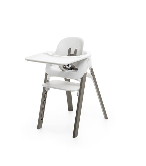 Stokke® Steps™ Chair White Hazy Grey, White/Hazy Grey, mainview view 6