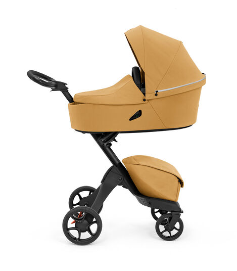 Stokke® Xplory® X Golden Yellow Stroller with Carry Cot. view 2
