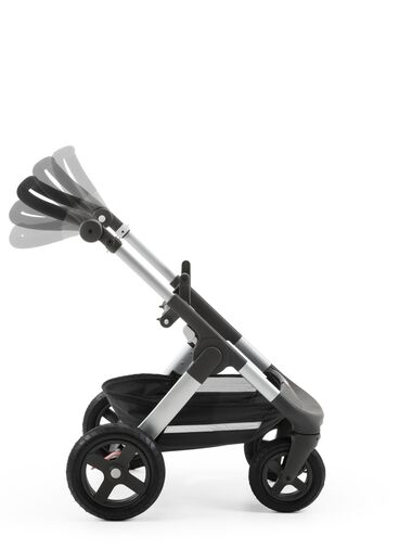 Stokke® Trailz™ Chassis. Handle positions.