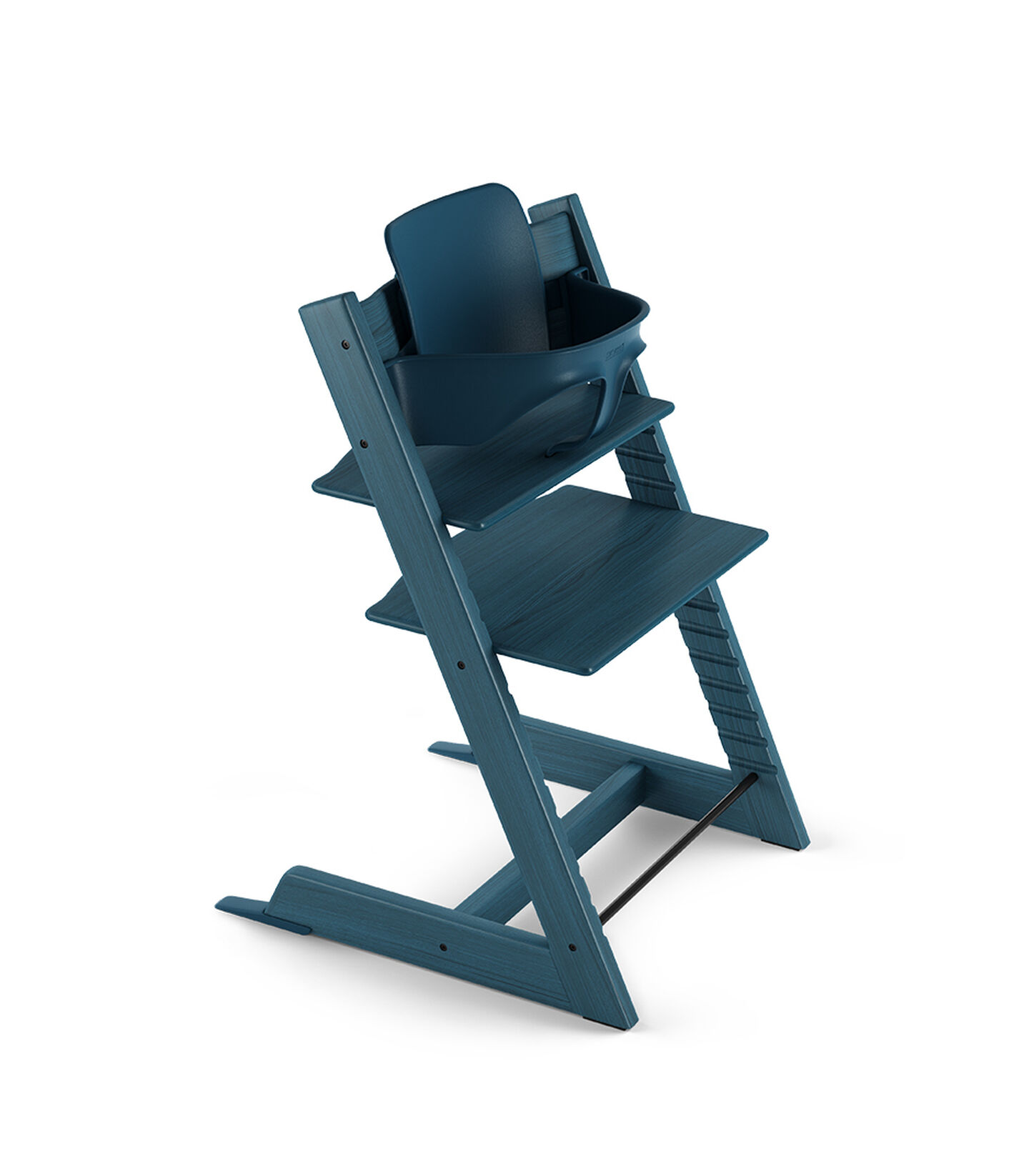 Tripp Trapp® Chair Midnight Blue with Baby Set.