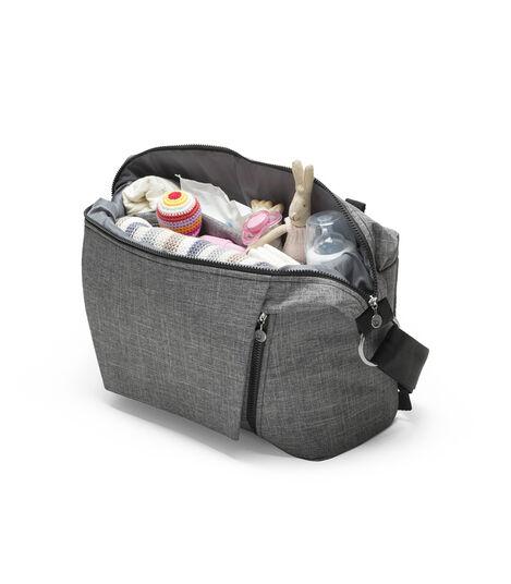 Stokke® Stroller Changing Bag, Black Melange. view 4