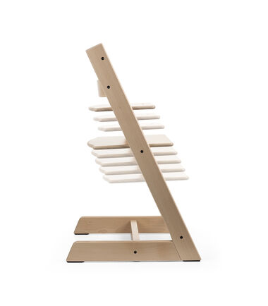 Tripp Trapp® Natural. Seat and footplate positions. Function.