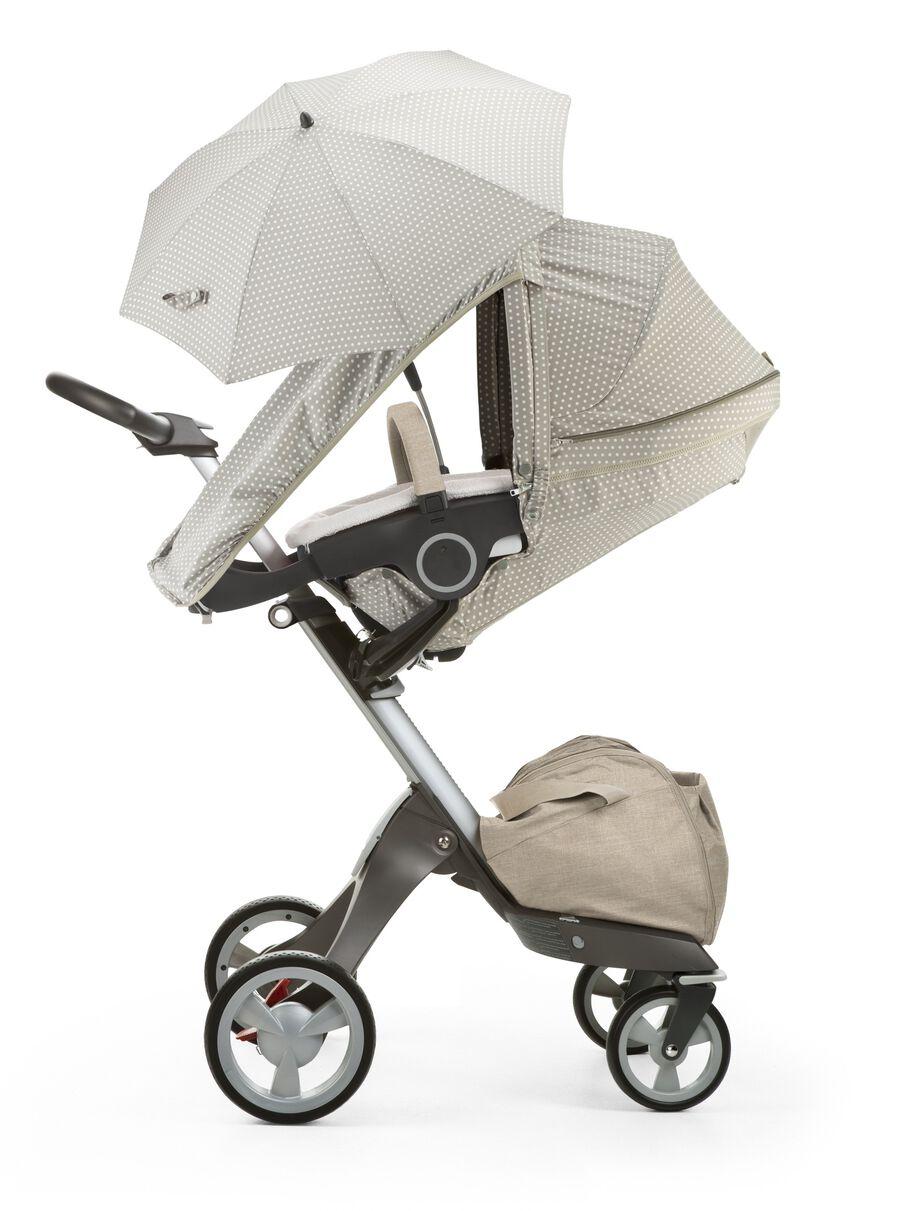 Stokke® Xplory® with Stokke® Stroller Summer Kit Beige Dots.