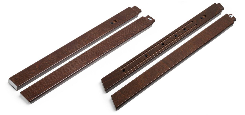 Stokke® Steps™ Wood leg set, Walnut Brown. Complete.