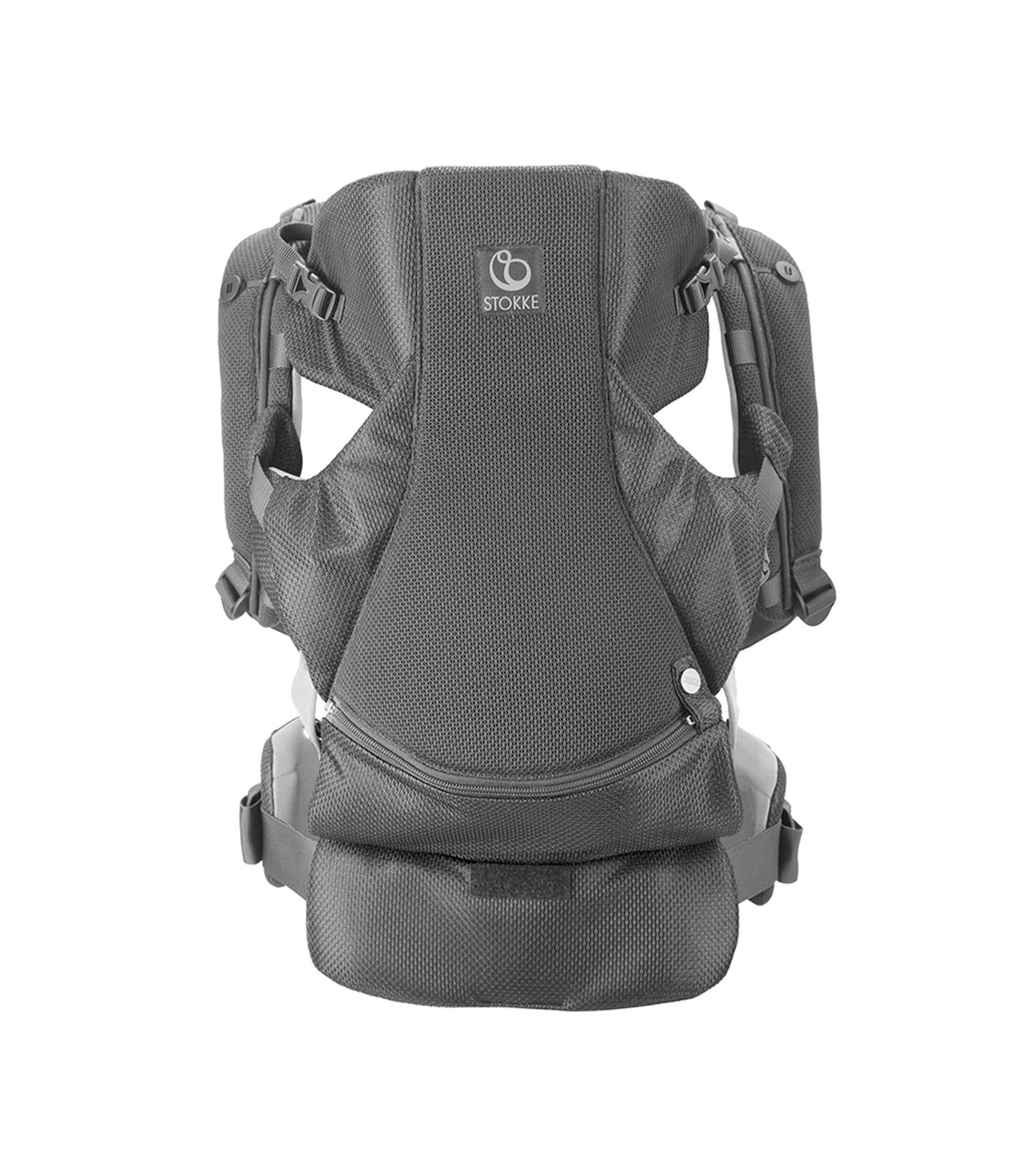 Stokke® MyCarrier™ Bæresele front Grey Mesh, Grey Mesh, mainview view 1