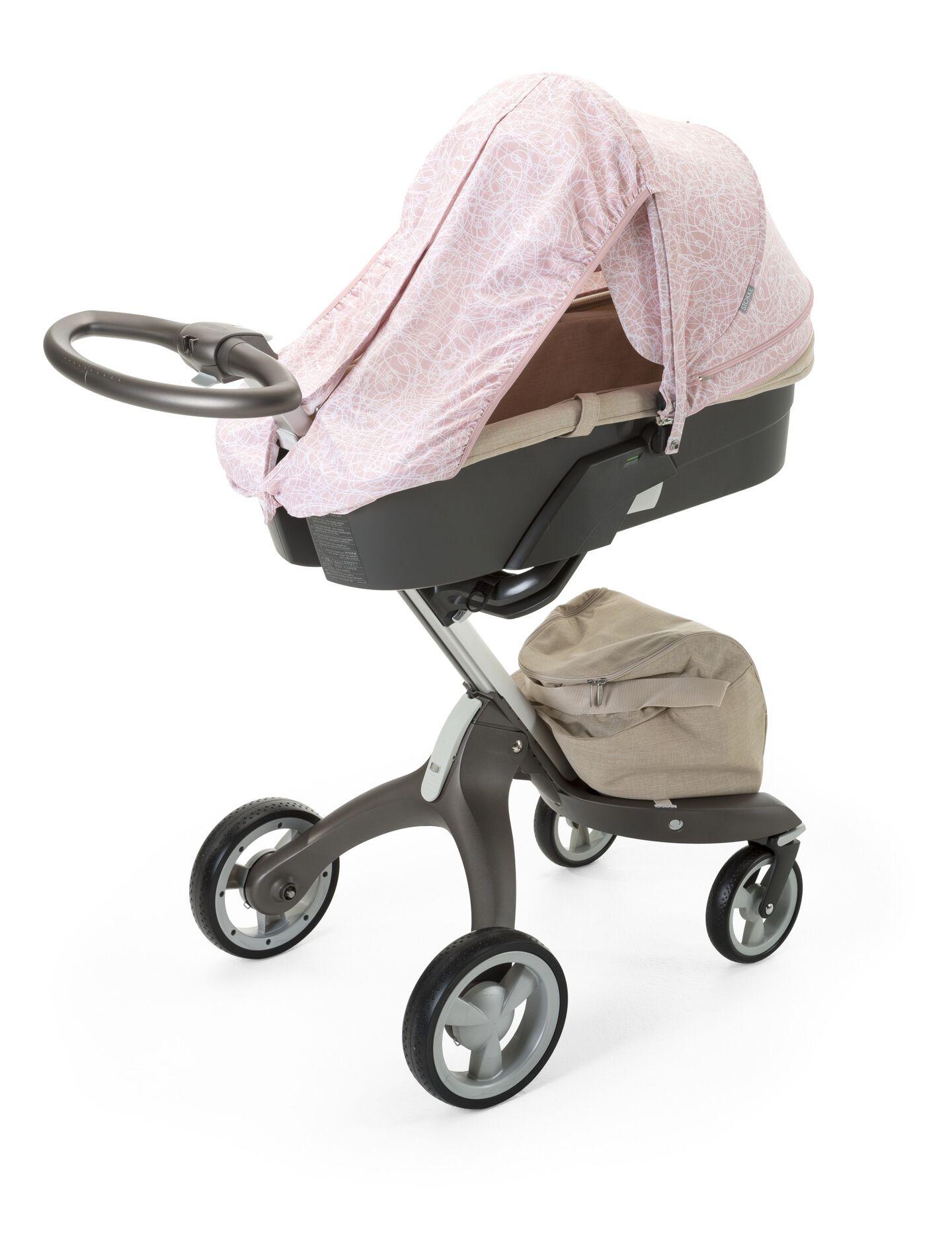 Stokke® Stroller Summer Kit Scribble Faded Pink with Stokke® Xplory® chassis, Beige Melange