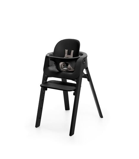 Stokke® Steps™ Beech Black with Baby Set, Black. view 4