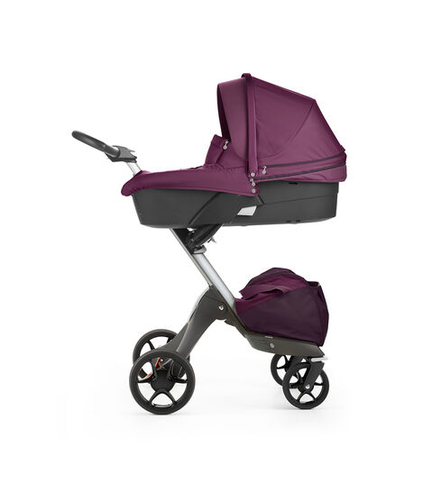 Stokke® Xplory® with Carry Cot, Purple. New wheels 2016.