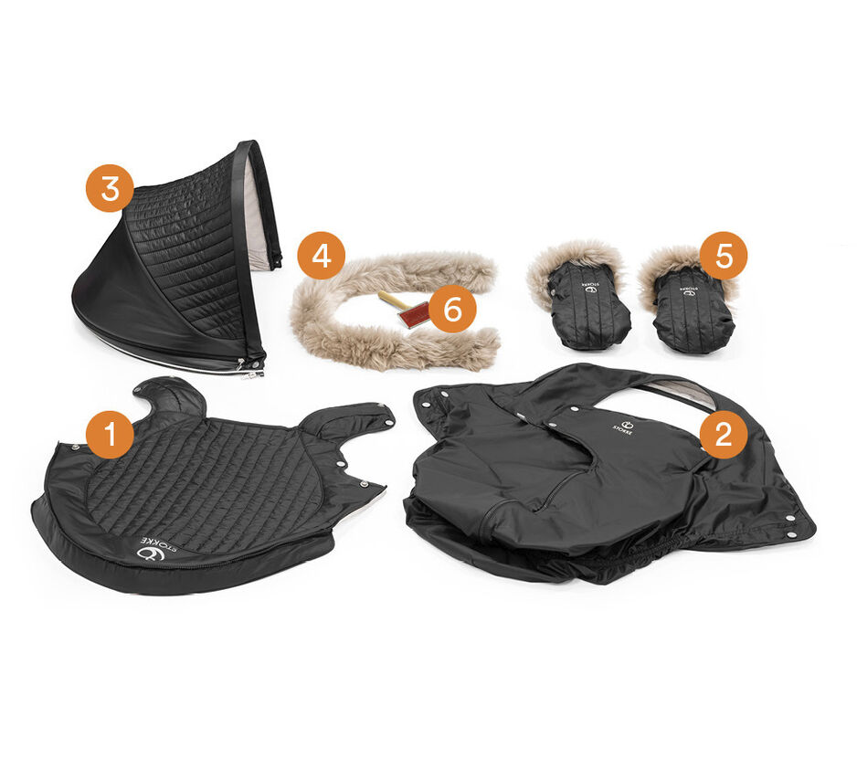 Stokke® Stroller Winter Kit Onyx Black, , WhatsIncl