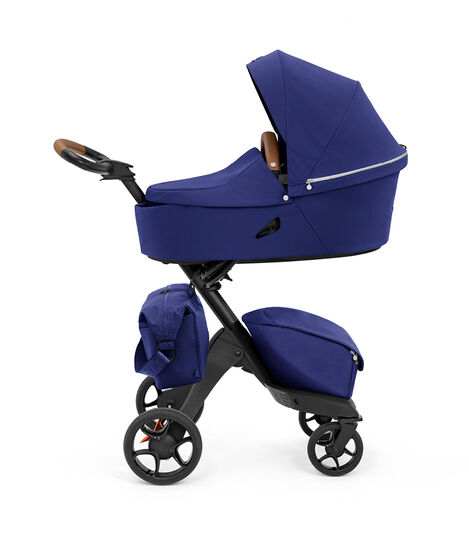 Stokke® Xplory® X Changing Bag Royal Blue on Stroller. Accessories.  view 5