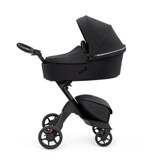 Stokke® Xplory® X Rich Black Stroller with Carry Cot. view 2