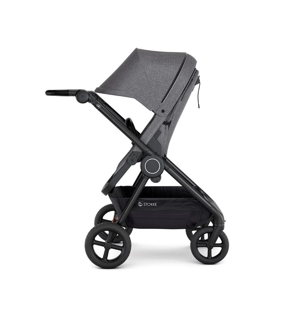 Stokke® Beat™ with Seat. Black Melange. Parent facing. view 2