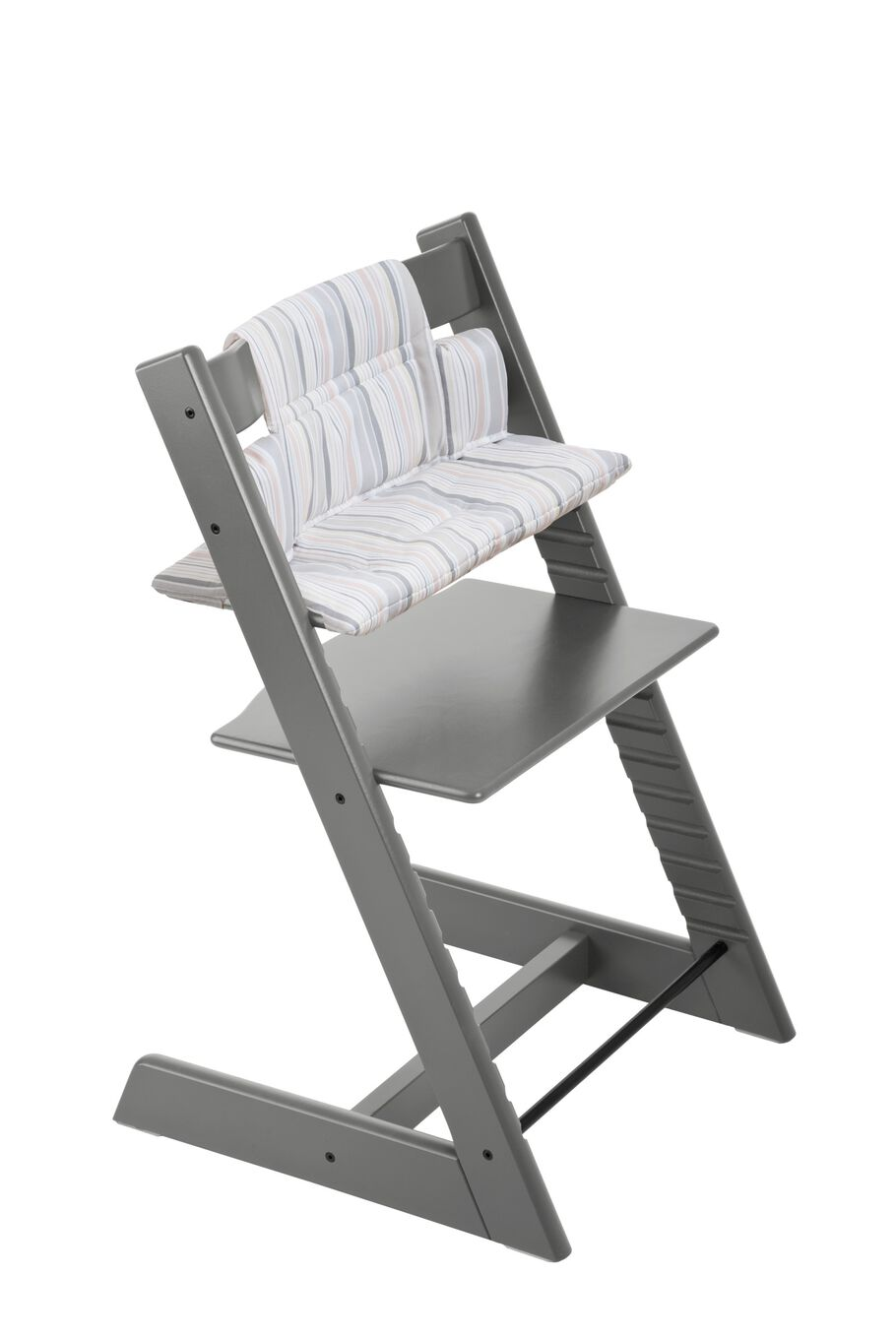 Tripp Trapp® Storm Grey with Soft Stripe Cushion