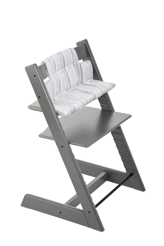 Tripp Trapp® Storm Grey with Soft Stripe Cushion