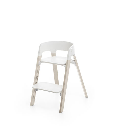 Stokke® Steps™ Chair Whitewash Legs with White, Whitewash, mainview view 3