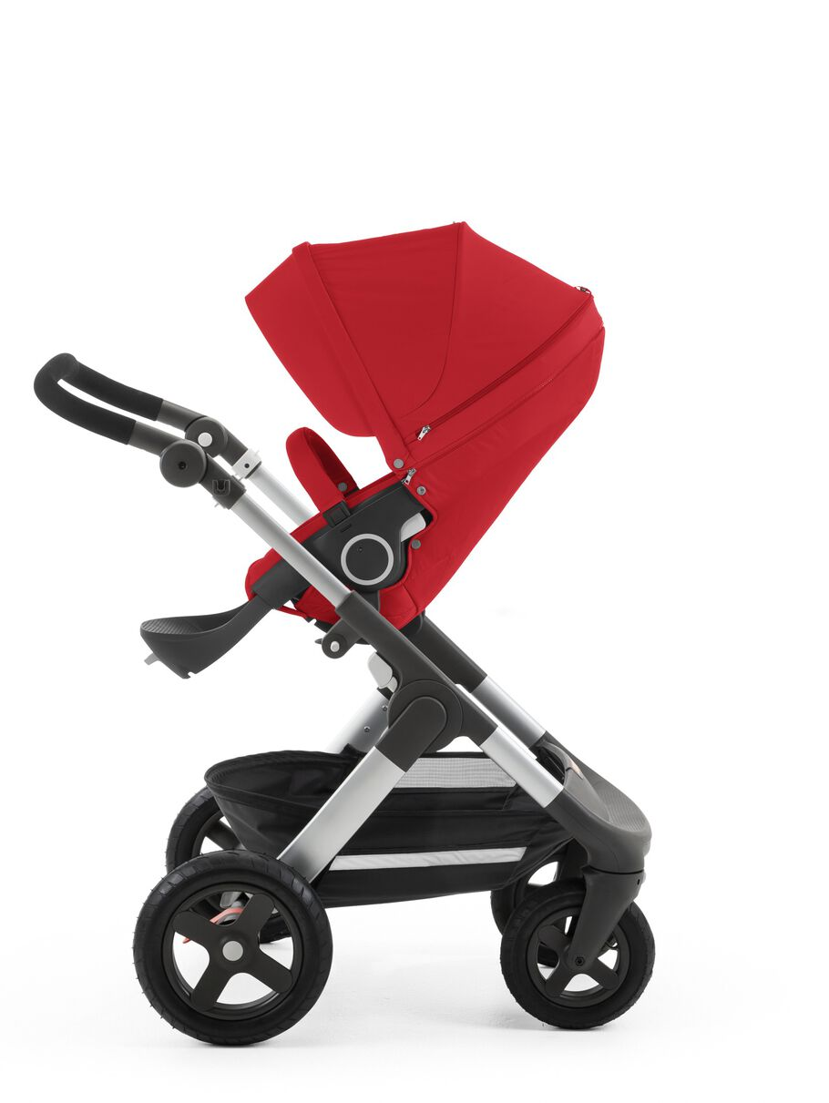 Stokke® Trailz™ with Stokke® Stroller Seat Red.