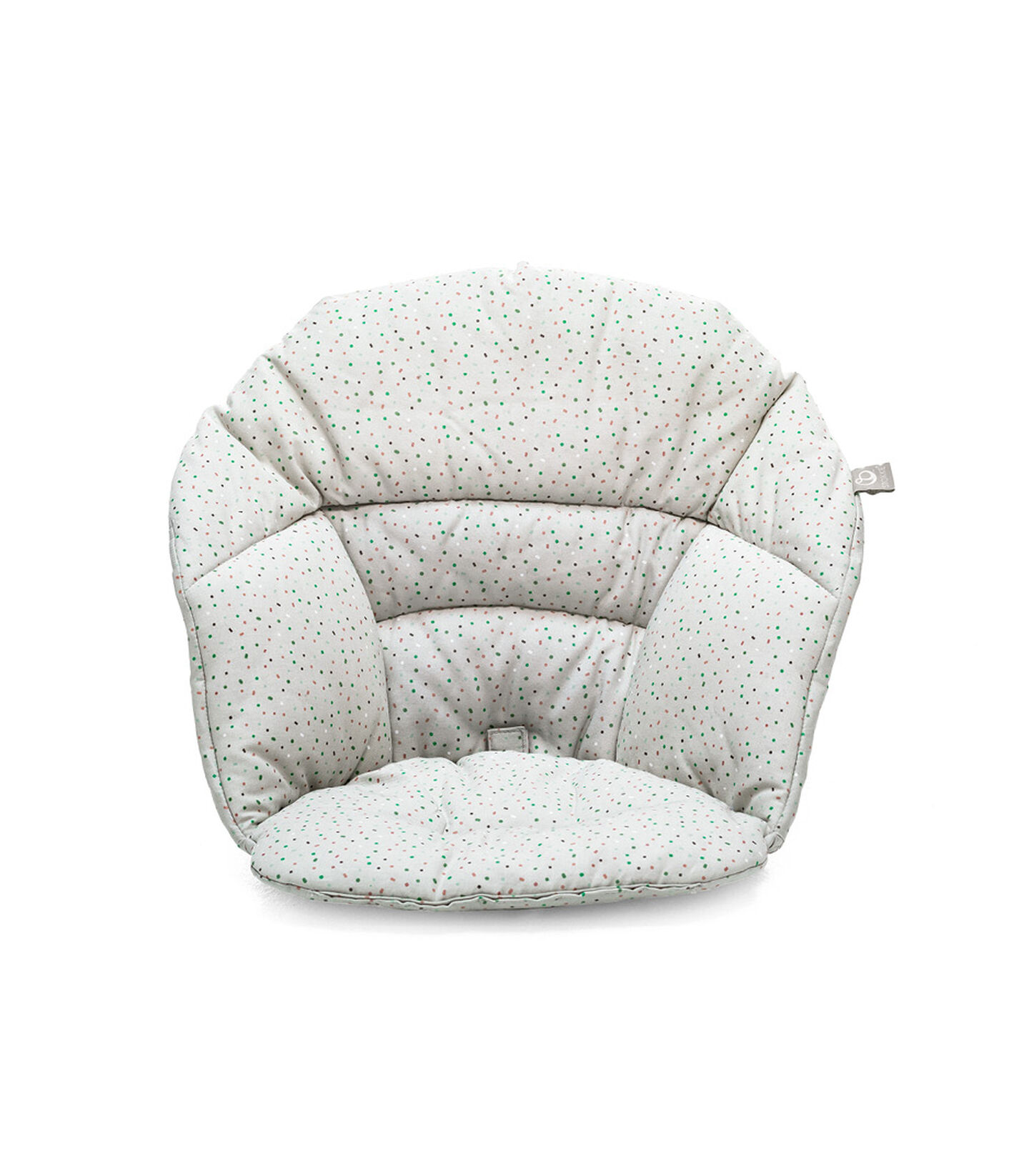 Stokke® Clikk™ Cushion Soft Grey Sprinkles, Grey Sprinkles, mainview view 2