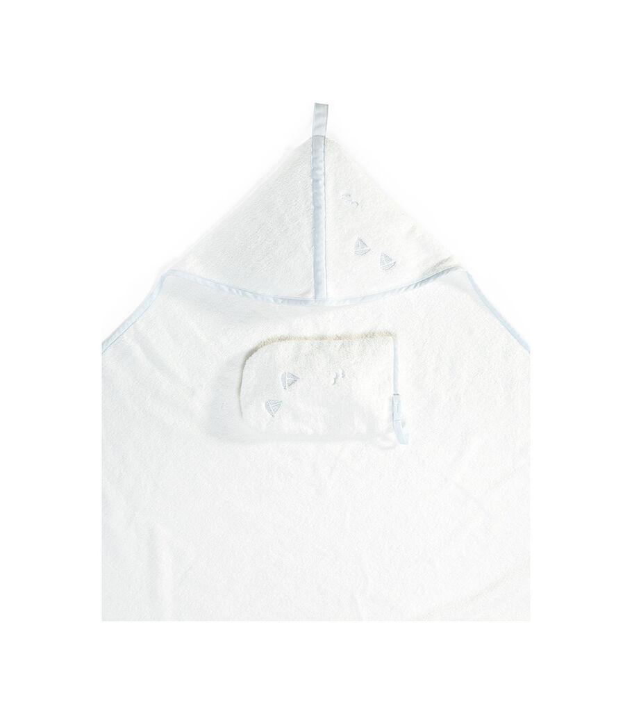 Stokke® Hooded Towel, Blue Sea, mainview view 4