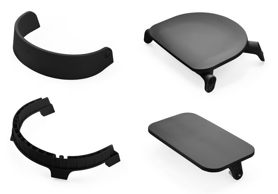 Stokke® Steps™ Seat. Plastic parts. Black