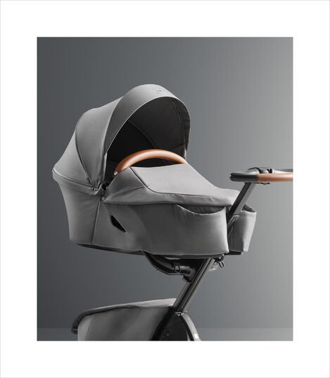 Stokke® Xplory® X Modern Grey (Carry Cot) and Rich Black (Seat). Strollers. view 5