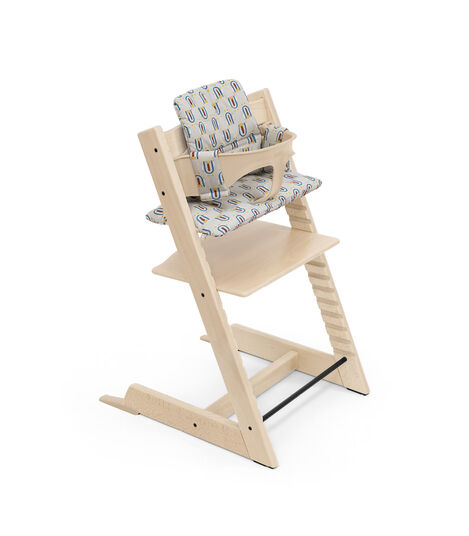 Tripp Trapp® High Chair Natural with Baby Set and Classic Cushion Robot Grey. view 7