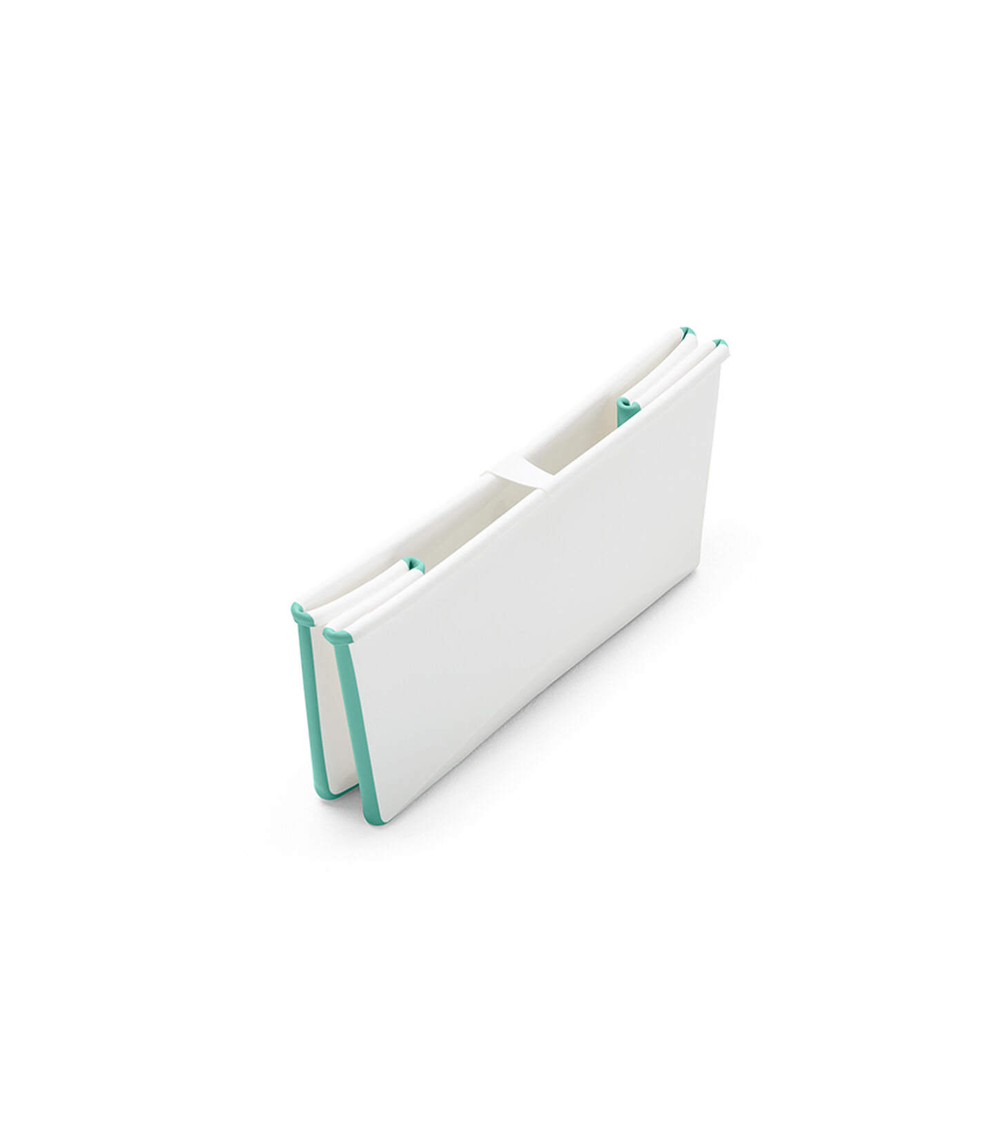 Stokke® Flexi Bath® bath tub, White Aqua. Folded.