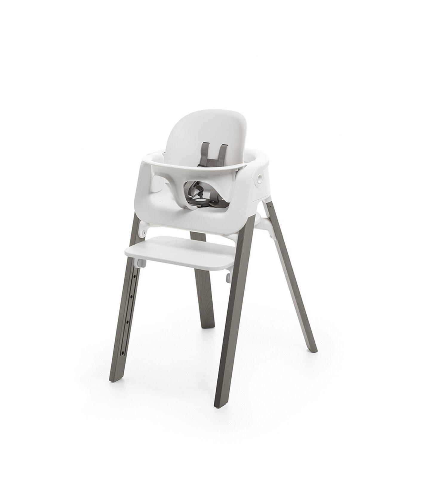 Stokke® Steps™ Hazy Grey with White Baby Set.