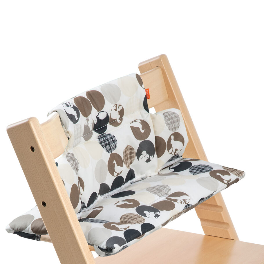 Tripp Trapp® Natural with Silhouette Blue cushion