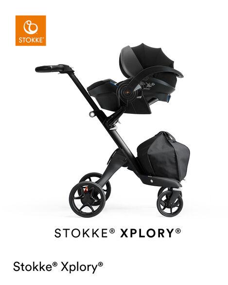 Stokke® iZi Go Modular™ X1 by Besafe®, Black. Mounted on Stokke® Xplory®. view 9